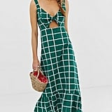 ASOS Design Knot Front Button Through Maxi Dress with Cut-Out ($56, originally $70)