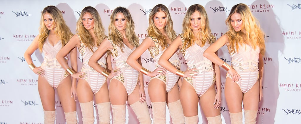 BTS Beauty Evolution of Heidi Klum's Halloween Costume