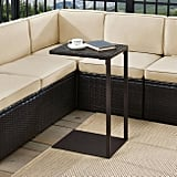 Espresso All Weather Wicker Pinamar Outdoor Laptop Table