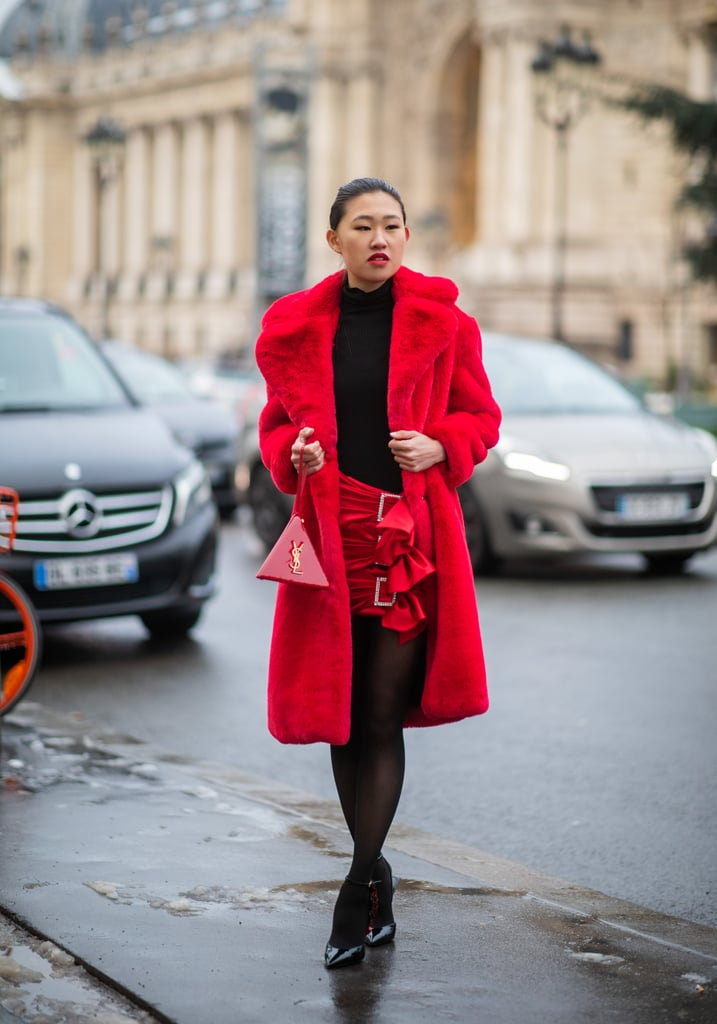 As Part of a Red and Black Ensemble