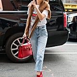 Gigi Hadid's Red Sock Boots