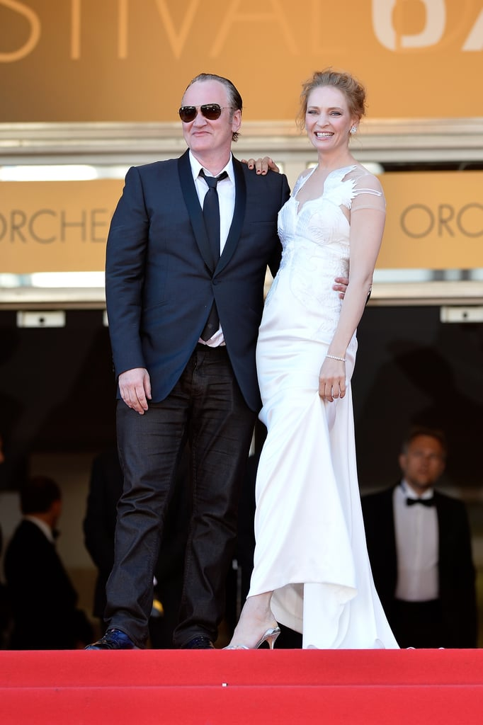Uma Thurman and Quentin Tarantino posed together at the closing ceremony.