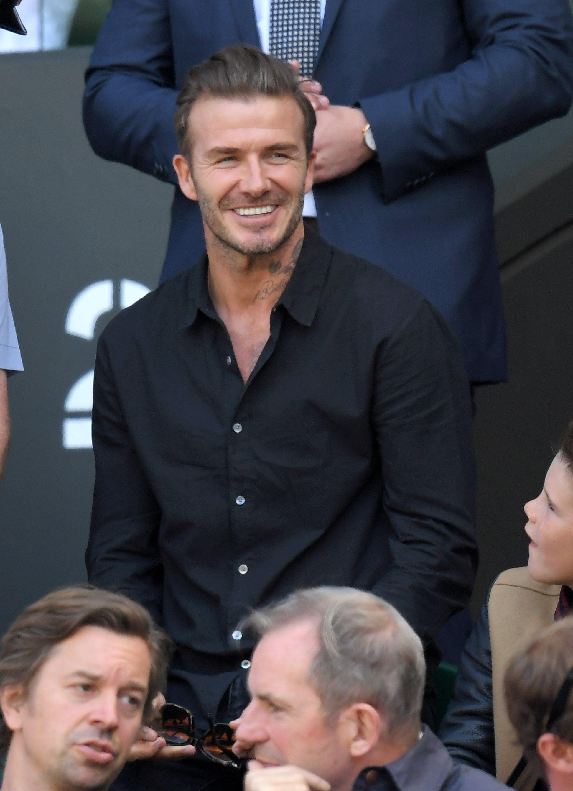 David Beckham With Sons At Wimbledon 16 Popsugar Celebrity
