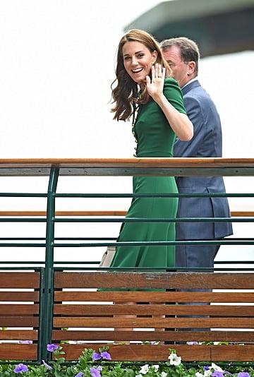 Kate Middleton Green Dress at Wimbledon 2019