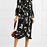 Erdem Siren Ruffled Floral-Print Silk Crepe De Chine Dress