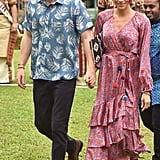 Meghan Markle's Printed Wrap Dress