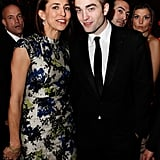Twilight stud Robert Pattinson made a stop at the fancy Weinstein affair post award show.