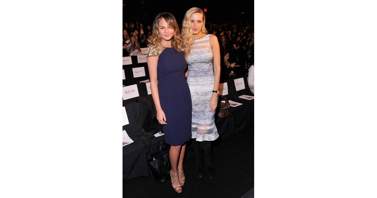 On Tuesday, Chrissy Teigen and Petra Nemcova attended ...