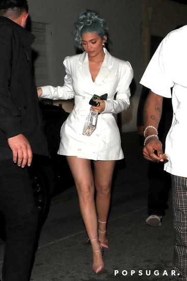 Kylie Jenner and Meghan Markle White Blazer Dress