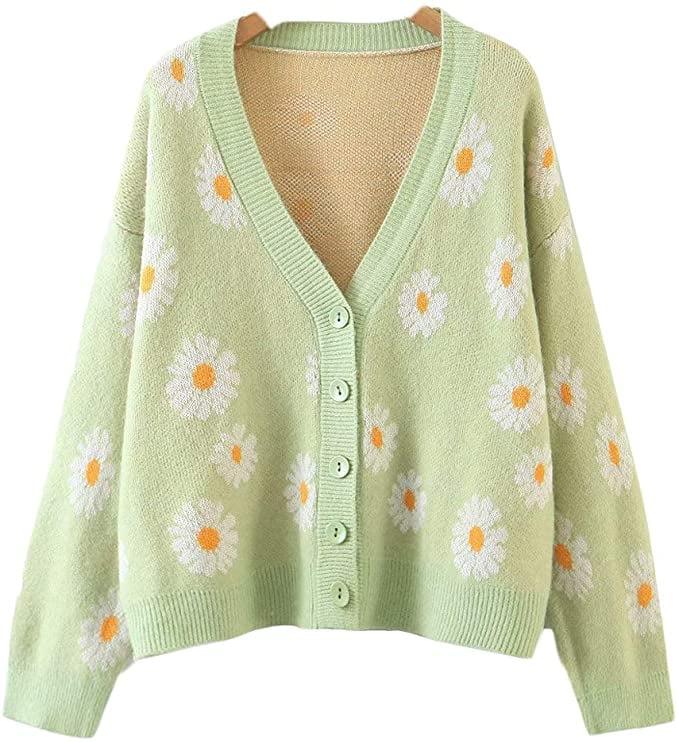 Y2K Floral Cardigan
