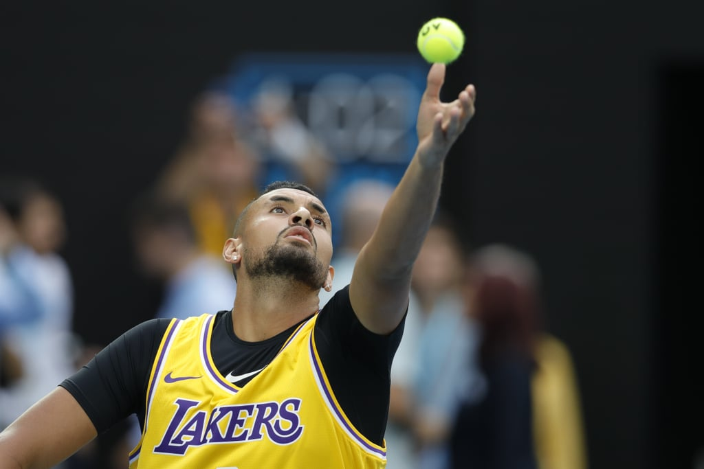 "The entire world of sports is mourning the loss of one of the greatest athletes of all time, Kobe Bryant, who tragically died in a helicopter crash on Jan. 26 along with eight others, including his 13-year-old daughter Gianna. The following day, tennis athletes playing in the Australian Open found ways to honour the late basketball legend.  In a women's doubles match, teammates Coco Gauff and Caty McNally customised their sneakers by writing Kobe's retired jersey numbers, as well as ""Mamba Mentality."" Following the match, Caty shared a photo of her sneakers on Twitter and wrote, ""For you Kobe and Gigi."" Coco, meanwhile, described Kobe as the ""definition of intensity"" in her tribute on Twitter. ""It was pretty heavy all day."" Nick Kyrgios appeared overcome with emotion when he arrived at his singles match against Rafael Nadal. The Australian player even wore Kobe's Los Angeles Lakers jersey during his warmup. Nick spoke about his love of basketball in a press conference following the match: ""I've been following it for as long as I can remember, so obviously when I woke up to the news I was pretty emotional. It was pretty heavy all day."" When asked if the news at all distracted him, Nick said, ""If anything it motivated me. If you look at the things he stood for and what he wanted to be remembered by, I felt like if anything it helped me tonight.""  Nick's opponent also honoured Kobe in a postgame interview. Wearing a Lakers cap, Rafael said, ""What can I say? I woke up this morning with this terrible news. Super sad. He had been one of the greatest sportsman in the history."" He added, ""He had been a true inspiration for the world of sports and for a lot of kids. It's one of those days that you want to forget, but of course Kobe Bryant will be in our hearts and in ours mind for the rest of our lives.""  See pictures of the many ways Kobe was memorialized at the Australian Open ahead.      Related:                                                                                                           Kobe Bryant's Friends and Teammates React to His Death With Emotional Tributes"