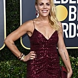 Busy Philipps's Reverse French Manicure at the 2020 Golden Globes