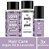 Love Beauty and Planet Smooth and Serene Shampoo, Conditioner and Leave In