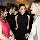 Victoria Beckham chatted with the elite fashion crowd.