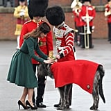 Kate presented shamrocks to the Irish Guards on St. Patrick's Day.