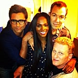Tika Sumpter took a photo with her My Man Is a Loser costars Michael Rapaport, Bryan Callen, and John Stamos. Source: Instagram user tikasumpter