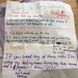 Fifth Grader Shuts Down a Boy Who Won't Leave Her Alone With a Brilliant List of Rules
