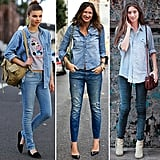 How to pull off denim on denim like a street-style pro. Hint: it's really, really easy.