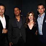 Peter Ramsey, Alec Baldwin, Isla Fisher, and Chris Pine linked up at a Q&A session for Rise of the Guardians.