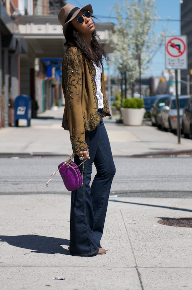 We love this 70's inspired getup.  Photo courtesy of WhereDidYouGetThat