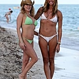 Real Housewives of New York's Ramona Singer and Kelly Bensimon flaunted their bikini bodies in Miami on Tuesday.