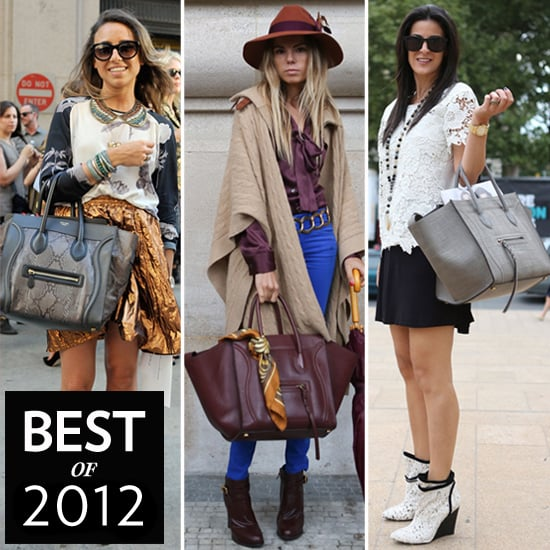 Celine Luggage Tote Street Style Pictures Popsugar Fashion
