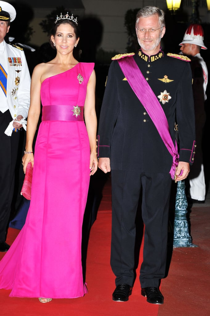 Prince Philippe of Belgium attended a dinner at Opera terraces after the religious wedding ceremony of Prince Albert II of Monaco and Princess Charlene of Monaco.