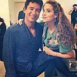 """Warming up before the show with my girl @elizberkley #MamaForever #ImSoExcited"""