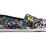Toms Multi Marvel Comic Pop Print Women's Canvas Shoes