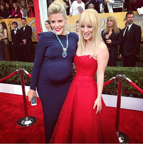 Busy Philipps and Kaley Cuoco joined forces for a photo op. Source: Instagram user sagawards
