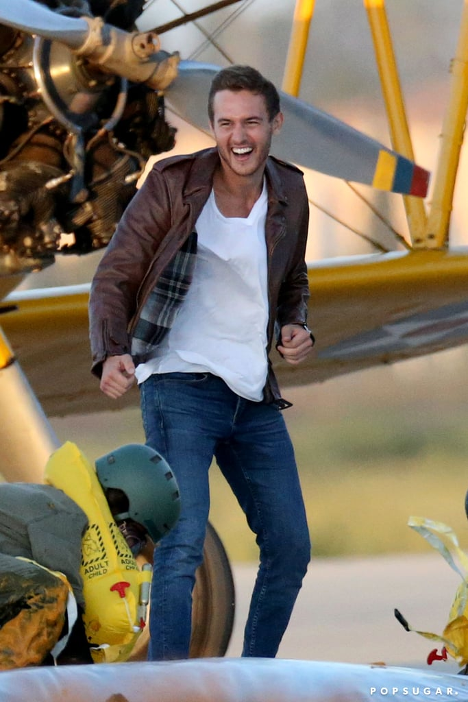Forget roses: It looks like a few ladies will be earning their wings on Peter Weber's season of The Bachelor. Shortly after it was announced that the 28-year-old would be the star of the upcoming season, we're now getting a glimpse of one of his first group dates, which is fittingly pilot-themed.  On Sept. 22, the handsome Delta Air Lines pilot was spotted filming in Los Angeles with a handful of his recently-announced contestants. The ladies competed in an obstacle course with the hopes of being Peter's copilot for the day. The course even had a windmill, which is probably a nod to Peter's infamous date with Hannah on The Bachelorette. From the women's green jumpsuits to Peter's brown leather jacket and dark-washed jeans, we're definitely getting major Top Gun vibes here. While filming for the new season is currently underway, we still have a while before we'll see it on TV. The new season doesn't premiere until Jan. 6, 2020. In the meantime, enjoy the first glimpse of Peter's group date ahead.