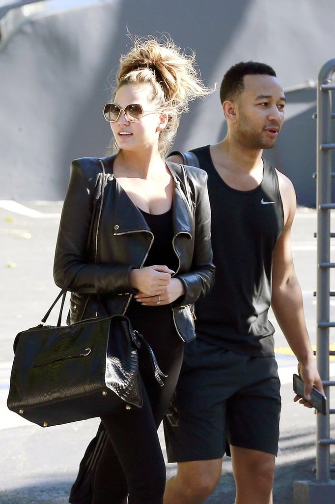 Chrissy Teigen Shows Off Baby Bump After the Gym