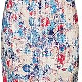Topshop Floral-Print Midi Skirt
