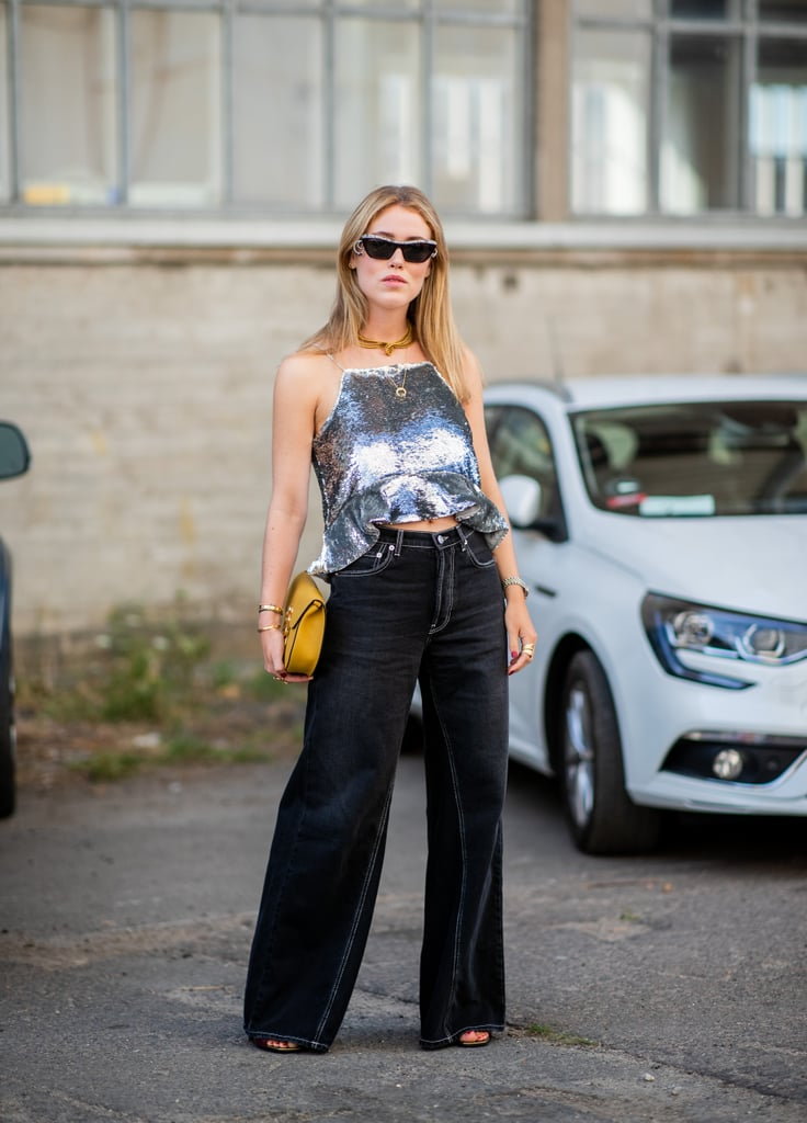 Channel the '90s in a Sequinned Top and Jeans