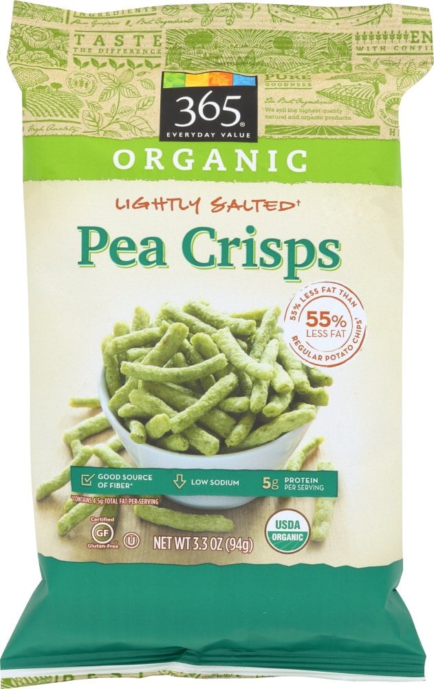 365 Everyday Value Organic Lightly Salted Pea Crisps