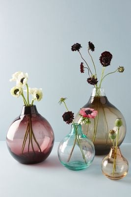 Anthropologie Translucent Bubble Vase