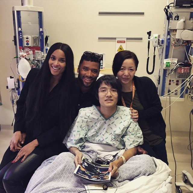 Ciara and Russell Wilson at Seattle Children's Hospital