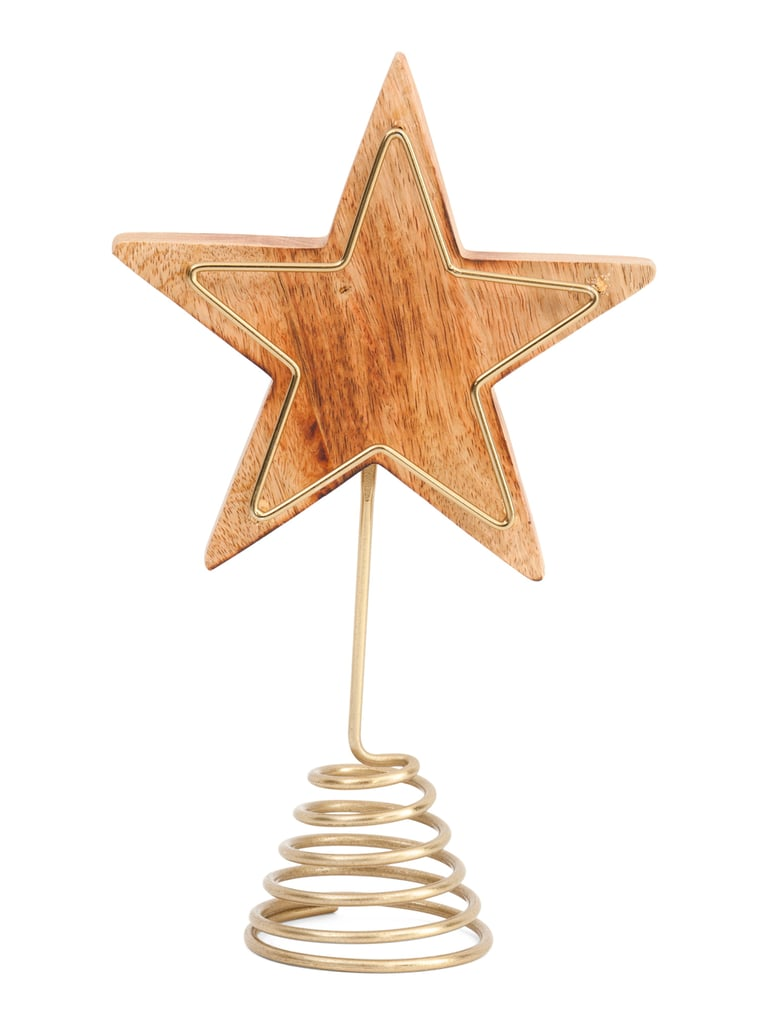 Wooden Star Tree Topper With Metal Frame Best Tj Maxx Christmas Decor 2019 Popsugar Home Australia Photo 52