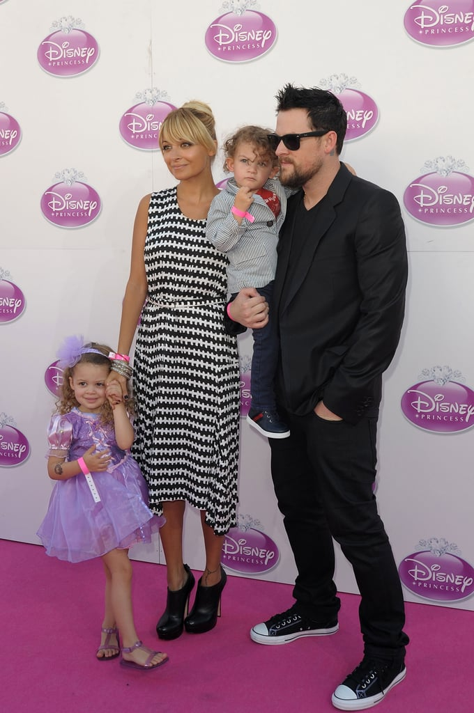 Nicole Richie and Joel Madden popped up in the UK with Harlow and Sparrow for a Disney event in October 2011.