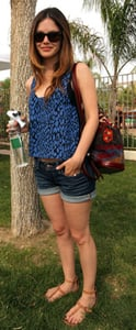 Rachel Bilson Style in Jean Cut-Offs at Coachella