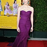This perfect plum-hued Oscar de la Renta gown took our breath away at The Help premiere in LA.