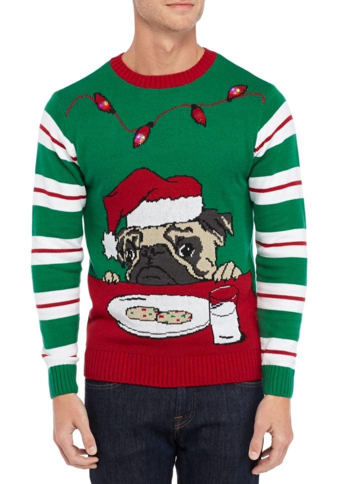 Ugly Pug Christmas Sweater | Light-Up Christmas Sweaters | POPSUGAR ...