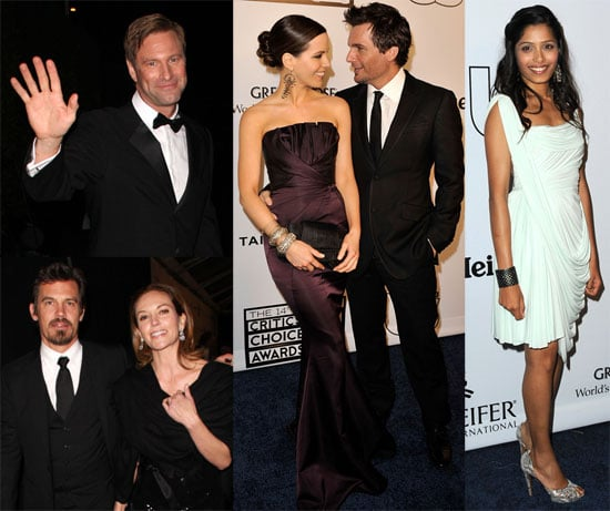 Photos of Kate Beckinsale, Len Wiseman, Aaron Eckhart, Josh Brolin, Diane Lane at Critics' Choice Afterparty