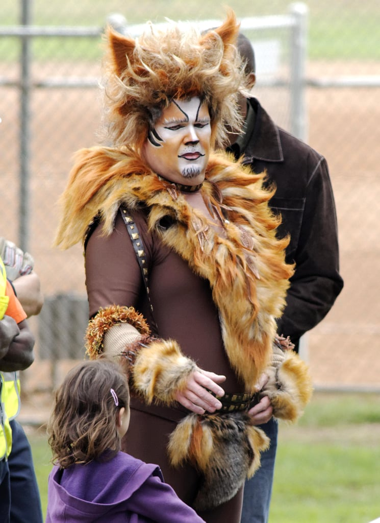 Eric Stonestreet got into quite the Halloween getup to film on the set of Modern Family in LA.