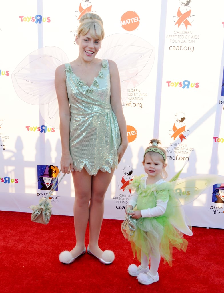 Busy Philipps and her daughter Birdie dressed as Tinkerbell at an LA party in 2010.