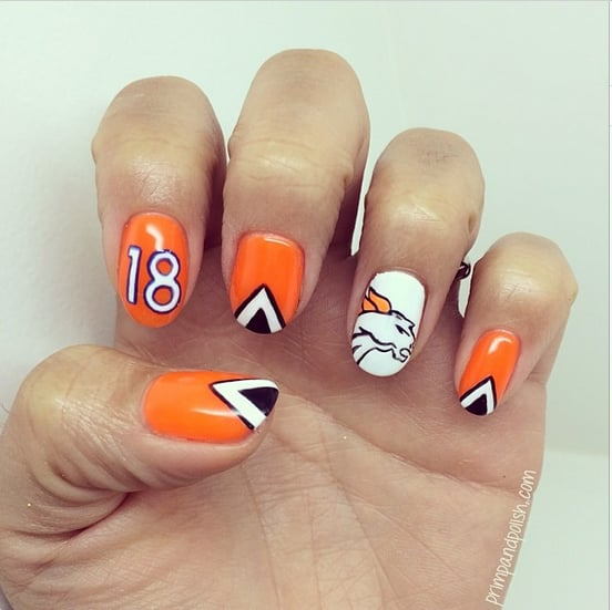 Super Bowl Nail Art Ideas 2014 Popsugar Beauty
