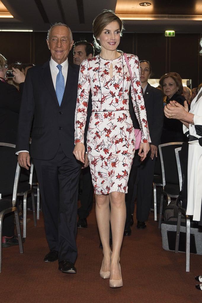 Queen Letizia's Carolina Herrera Dress