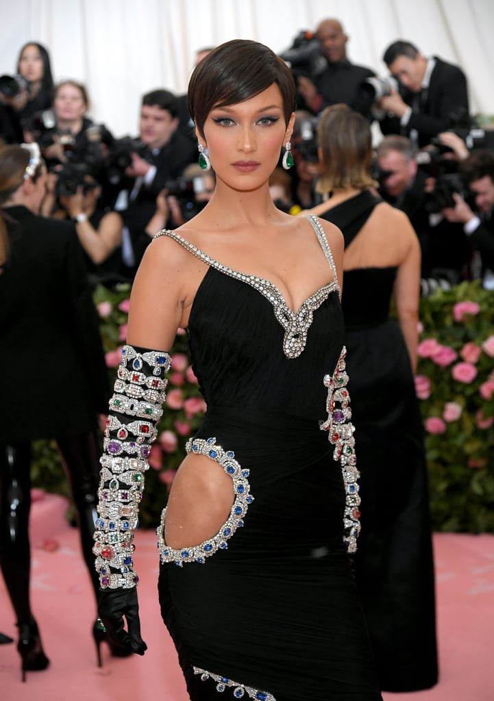 Bella Hadid Black Dress Met Gala 2019