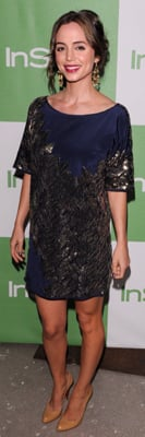 Eliza Dushku Wears Karen Zambos to InStyle Party