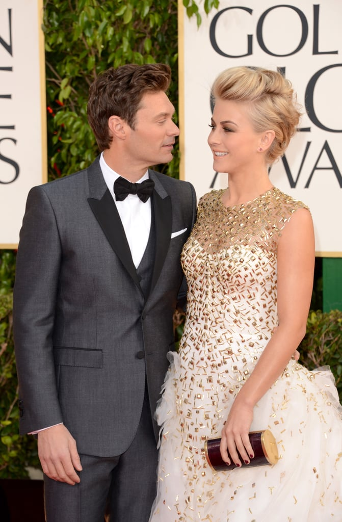 Julianne Hough Looks Gorgeous in Monique Lhuillier at the Globes